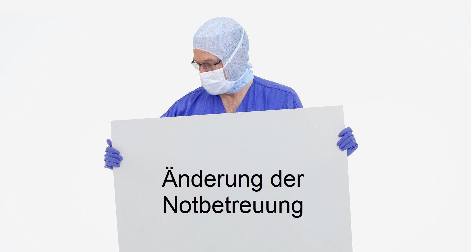 Notbetreuung Update 1